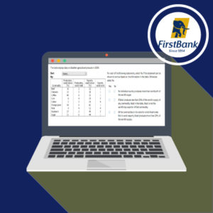 First Bank Aptitude Test Practice Questions 2021 2022